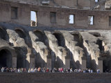 Tourists Inside the Colosseum in Rome Photographic Print by Scott Warren