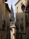 Cathedral Through a Narrow Street in the Medieval City of Toledo Photographic Print by Scott Warren