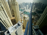Cityscape of High Rises and Waterways in Downtown Dubai Photographic Print by Mattias Klum