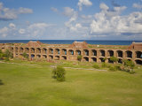 View Inside the Courtyard of Fort Jefferson, Dry Tortugas Photographic Print by Mike Theiss