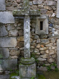 Stone Cross in La Alberca in the Sierra De Francia Region Photographic Print by Scott Warren