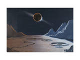 Painting Depicts an Eclipse of the Sun by the Earth Photographic Print by Charles Bittinger