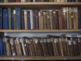 Books Line Shelves in the Library at the Norwegian Whalers' Church Photographic Print by Kent Kobersteen
