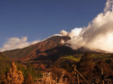 Steam and Ash Coming from the Crater of the Mount Tungurahua Volcano Photographic Print by Steve & Donna O'Meara
