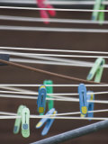Colorful Clothespins on a Clothesline Photographic Print by Kent Kobersteen