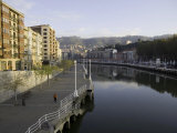 Along the River in Downtown Bilbao, Spain Photographic Print by Scott Warren