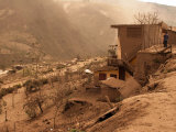 Ashfall Damage to the Village of Bilbao on the Slopes of Tungurahua Photographic Print by Steve & Donna O'Meara