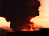 Hydrochloric Acid Steam Plume Silhouetted Against Sky after Sunset Photographic Print by Steve & Donna O'Meara