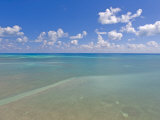 Rich Blue Hues in Sky and Waters Off the Florida Keys Photographic Print by Mike Theiss