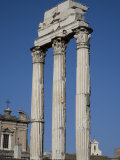 Remains of the Temple of Castor and Pollux in the Forum Photographic Print by Scott Warren
