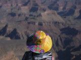 Woman Looking at the Grand Canyon Photographic Print by John Burcham