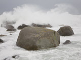 Large Waves Crash into Boulders Along the Coast During Hurricane Noel Photographic Print by Mike Theiss