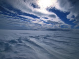 Wind Clouds over Sea Ice in Winter Photographic Print by Nick Norman