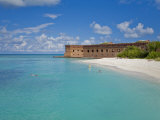 Tourists Snorkeling in Clear Water at the Beach at Dry Tortugas Photographic Print by Mike Theiss