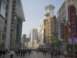 People Strolling at the Busy Pedestrian Street of East Nanjing Road Photographic Print by Scott Warren