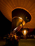 Group of People Fire Up a Hot Air Balloon in Albuquerque Photographic Print by Ralph Lee Hopkins