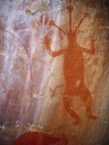 Ancient Aboriginal Rock Art on a Cave Wall in the Gulf of Carpentaria Photographic Print by Jason Edwards