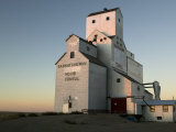 Exterior of Grain Elevators Photographic Print by Pete Ryan