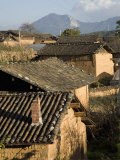Tile Rooftops in Small Village of Haixi Near the City of Lijiang Photographic Print by Scott Warren