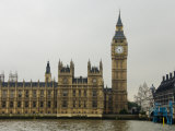 Big Ben Clock Tower and Parliament Seen from across the Thames River Photographic Print by Mattias Klum