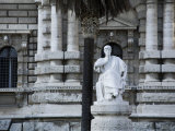 Statue in Front of Rome's Palazzo Di Giustizia (Hall of Justice) Photographic Print by Scott Warren
