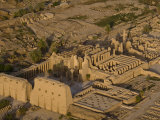 Aerial View of the Large Temple Complex at Karnak Photographic Print by Michael Polzia