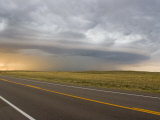 Gustfront Forms from a Dying Supercell over a Colorado Interstate Photographic Print by Mike Theiss