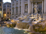 Trevi Fountain at Dusk Photographic Print by Scott Warren