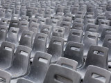 Chairs Set Up in St. Peter's Square in Rome Photographic Print by Scott Warren