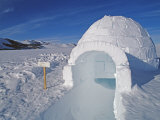 Igloo Built by Climbers at the Patriot Hills Expedition Base Photographic Print by Gordon Wiltsie