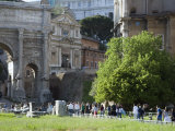 Visitors on the Palatine in Rome Photographic Print by Scott Warren