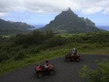 Tourists Riding All Terrain Vehicles on Moorea Island Photographic Print by Stephen Alvarez