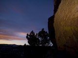 Tsankawi Pueblo Petroglyphs at Twilight, Bandelier National Monument Photographic Print by Ralph Lee Hopkins