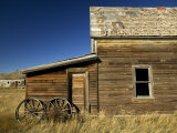 Rancher's House in Prairie Semi-Ghost Town Fotografiskt tryck av Pete Ryan