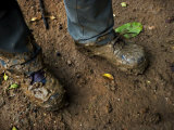 Muddy Boots in a Peruvian Rain Forest Photographic Print by Mattias Klum