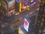 Looking Down at Broadway in Times Square, New York Photographic Print by Mike Theiss