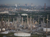 Elevated View of an Oil Refinery Photographic Print by Tyrone Turner