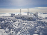 Mount Washington Observatory, Completely Covered in Rime Ice Photographic Print by Mike Theiss