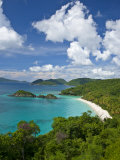 Beautiful View of Trunk Bay in St. John Lmina fotogrfica por Michael Melford