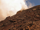 Pacaya Volcano Littered with Lava Bombs, Cross Where Someone Died Photographic Print by Steve & Donna O'Meara