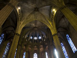 Inside Barcelona's Cathedral De La Santa Creu I Eulalia Photographic Print by Scott Warren