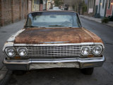 Rusty Old Car in the French Quarter of New Orleans Photographic Print by Tyrone Turner