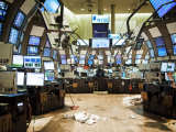 Empty Stock Exchange Floor after Close of Business Photographic Print by  xPacifica