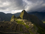 Reconstructed Stone Buildings on Machu Picchu Photographic Print by Michael Melford