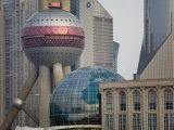 Modern Pudong New Area and Oriental Pearl Tower Photographic Print by Scott Warren