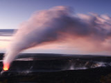 Steam and Ash Eruption at Halemaumau, the Summit Crater of Kilauea Photographic Print by Steve & Donna O'Meara