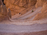 Person Hiking in Bryce Canyon National Park, Utah Photographic Print by John Burcham
