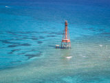Sombrero Key Lighthouse and Turquoise Waters During Spring Low Tides Photographic Print by Mike Theiss