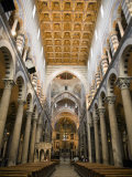 Interior of the Nave and Altar of Pisa Cathedral Photographic Print by Scott Warren