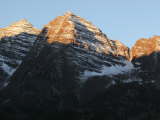 Morning Sunlight Shines on the Majestic Maroon Bells Photographic Print by Charles Kogod